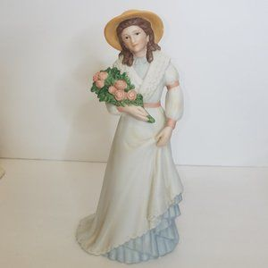 Homco Charlotte Rose Lady with Flowers Figurine